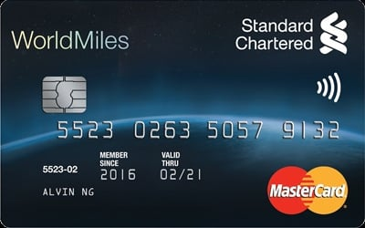 Standard Chartered WorldMiles World MasterCard credit card