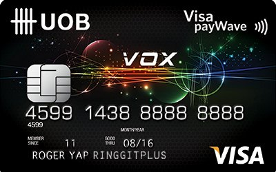 UOB VOX Visa credit card