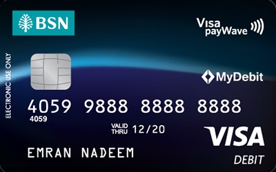 BSN Visa Debit Card credit card