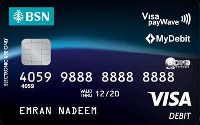BSN Visa Debit Card-i credit card