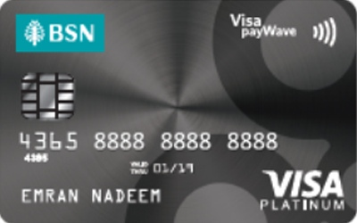 BSN Visa Platinum credit card