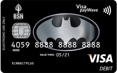 BSN Batman Visa Debit Card credit card