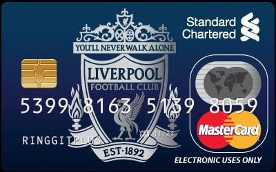 Standard Chartered Liverpool FC MasterCard Debit Card credit card