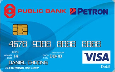Public Bank Petron Visa Debit Card credit card