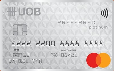 UOB Preferred Platinum MasterCard credit card
