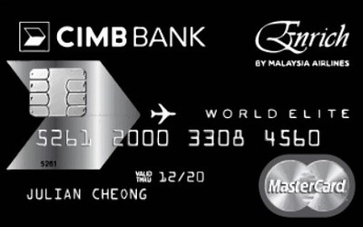 CIMB Enrich World Elite MasterCard credit card