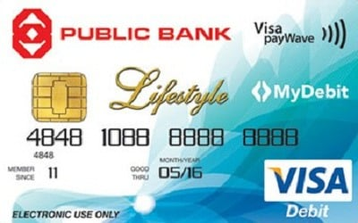 Public Bank Visa Lifestyle Debit Card credit card
