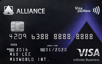 Alliance Bank Visa Infinite Business Credit Card credit card