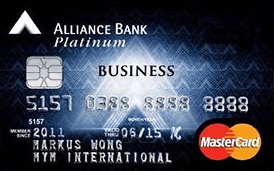 Alliance Bank Business Platinum MasterCard credit card
