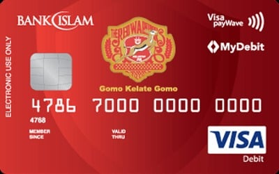 Bank Islam The Red Warriors Visa Debit Card-i credit card