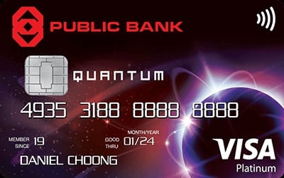 Public Bank Quantum Visa credit card