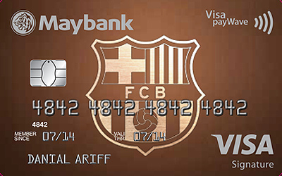 Maybank FC Barcelona Visa Signature - No Annual Fee For Life dff10ed3574