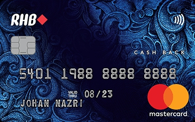 RHB Cash Back MasterCard Credit Card