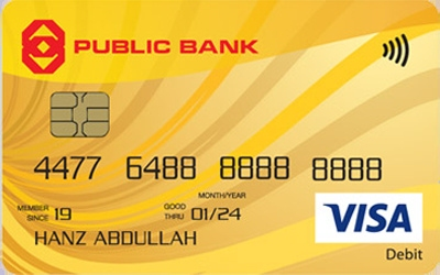 Public Bank Visa Debit Card credit card