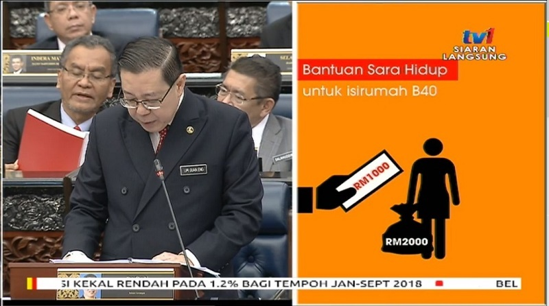 Budget 2019: BR1M Renamed As Bantuan Sara Hidup; Offers Cash Assistance For B40 Households