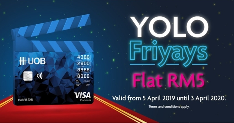 Enjoy Flat RM5 GSC Movie Tickets With UOB YOLO Friyays Promotion