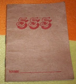 The iconic buku 555 famously used by school students, the older generation and some not-so-tech savvy ah longs.