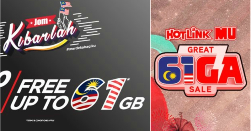 Tune Talk & Hotlink Offering Up To 61GB Of Free Data