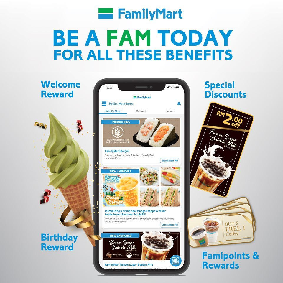 Family Mart Releases Loyalty App Offering Free Ice Cream