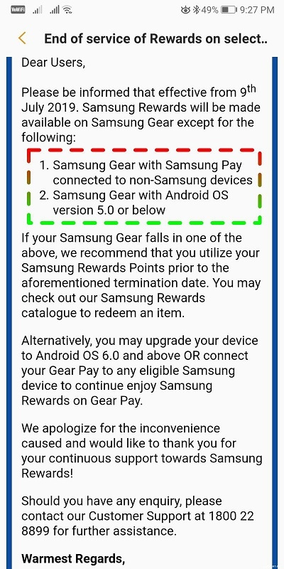 Samsung Gear Paired With Non-Samsung Phones Will Not Earn Samsung
