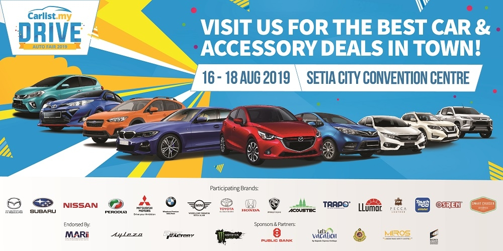 Carlist.my's DRIVE: Auto Fair 2019 Is Back For The Third Year