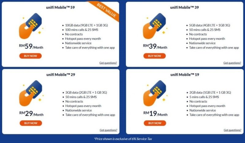 Unifi Mobile Announces New Postpaid Plans From RM19 A Month