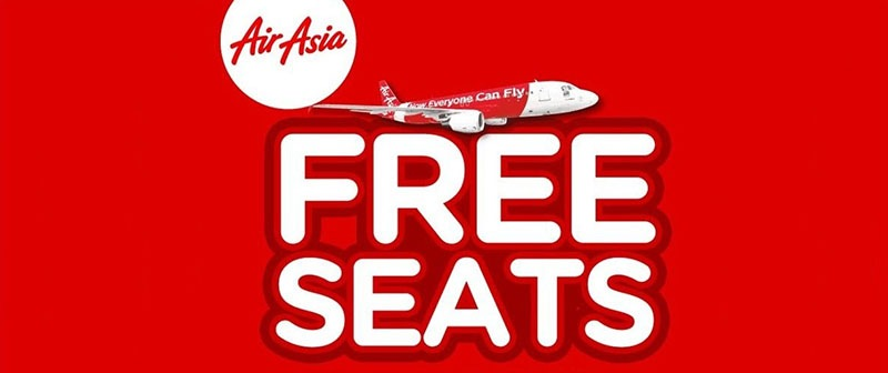 The 2018 AirAsia Free Seats Sale Offers Free Seats And All-In Fares From Just RM15