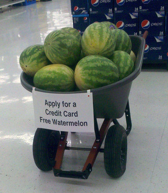 Credit card free watermelon
