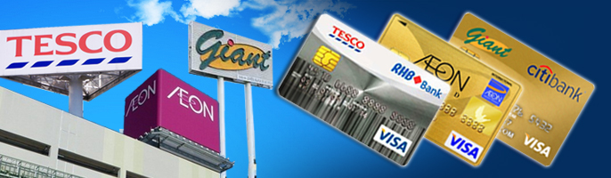 Which is the Best Credit Card for Hypermarket Shopping? Tesco-RHB vs. Giant Citibank vs. AEON Credit Cards