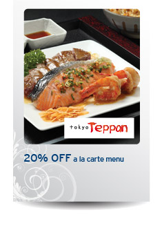 Have a thrill of a grill at Tokyo Teppan with Citibank