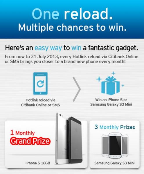 Win an iPhone5 By Reloading with Citibank Credit Cards