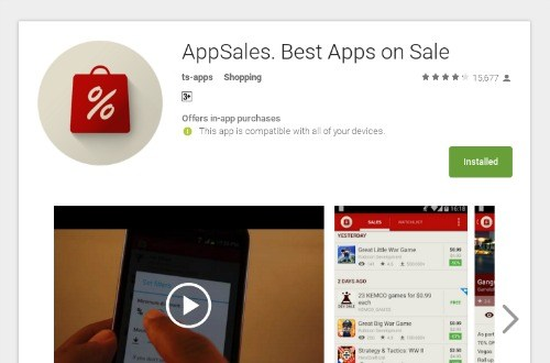 Find Out When Android Apps Become Cheap (or Free!) with AppSales