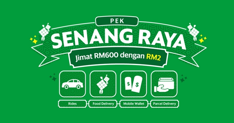 Grab Offers Pek Senang Raya At Only RM2, Offers Discounts Worth RM600 On Rides, Food, Shopping, And Travel