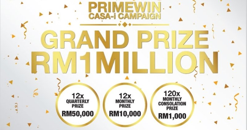 Stand A Chance To Win RM1 Million With MBSB Bank PrimeWin RM1,000,000 CASA-i Campaign