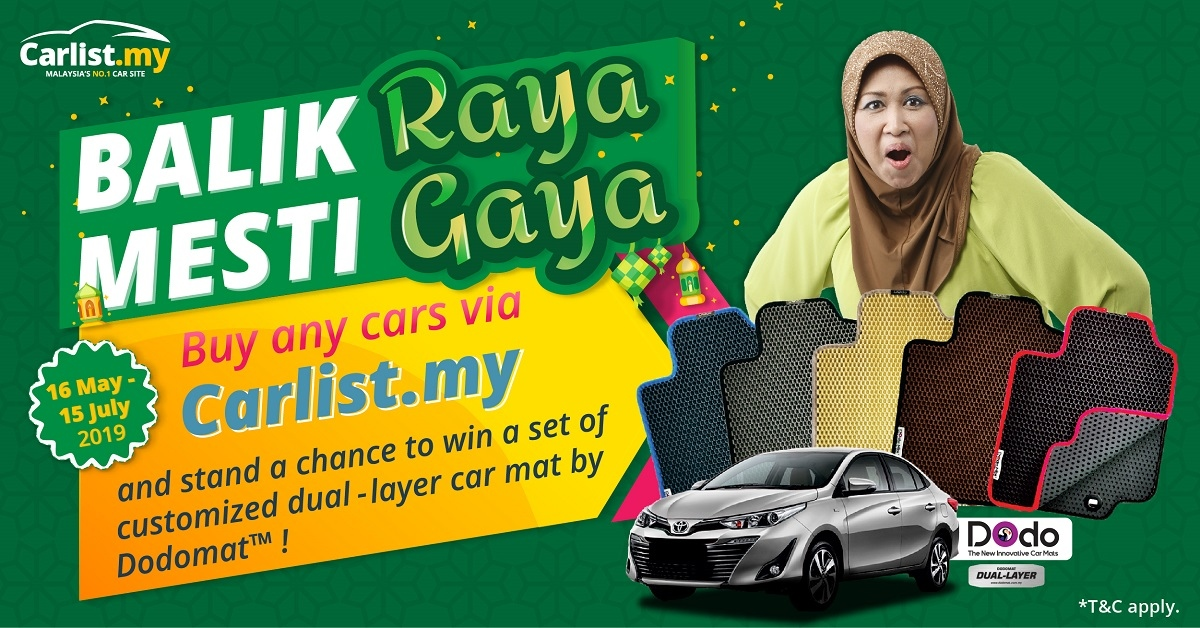 "Win A Dodomat Car Mat With The Carlist.my ""Balik Raya Mesti Gaya"" Contest"