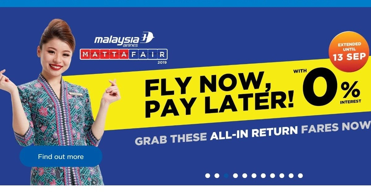 "Malaysia Airlines Introduces ""Fly Now, Pay Later"" 0% Instalment With Maybank & Public Bank Credit Cards"