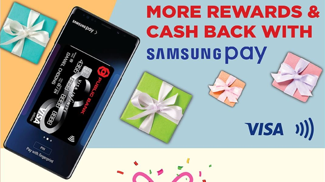 Get RM5 Cashback For Visa Contactless and Samsung Pay Transactions With Your Public Bank Card