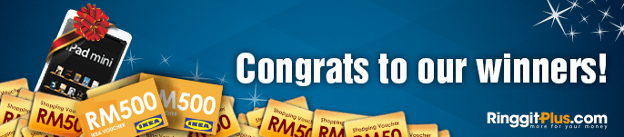 Here are the RinggitPlus.com iPad mini & voucher giveaway winners!
