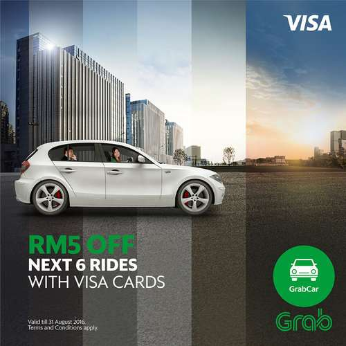Discounted Rides with GrabCar in Partnership with Visa