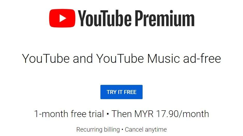 Youtube Premium Now Available In Malaysia Comes With Youtube Music Premium